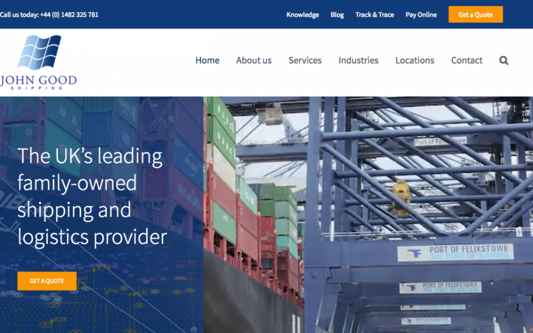 John Good Shipping Launches New Website