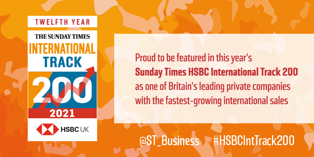 The John Good Group is recognised for sales growth in the HSBC International Track 200 – again!